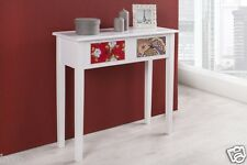 Make-up table Arlecchino Cosmetic in white Patchwork with 2 Drawers CONSOLE