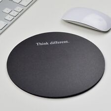 Think different Black rund Mousepad Mauspad tapis de souris Apple Windows OS X