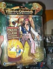 "PIRATES OF THE CARIBBEAN POTC 7"" JACK SPARROW SWORD SLASHING FIGURE NEW"