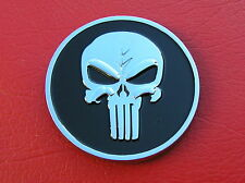 ~ PUNISHER SKULL CAR EMBLEM Chrome Metal Badge *NEW & UNIQUE*