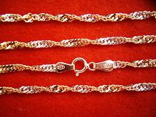 2-farbige gedrehte Goldkette 333 70 cm x 2,3 mm,lange Singapurkette bicolor Gold