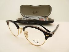 NEW RAY BAN RB4246-V BLACK GOLD CLUBROUND OPHTALMIC EYEGLASSES FRAME Italy 49mm