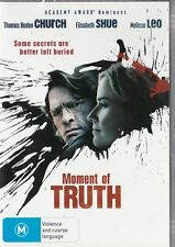 MOMENT OF TRUTH - ELISABETH SHUE- REGION 4 NEW & SEALED DVD FREE LOCAL POST