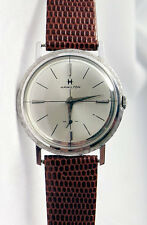 Vintage 14K White Gold 22 Jewels HAMILTON Mens Watch Calibre 770 New Band!