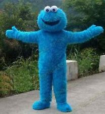 Sesame Street Cookie Monster Mascot Costume Fancy Dress Halloween Suit ADULT SZ