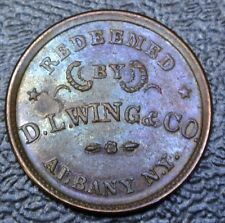 Civil War Token - Union Flour - Redeemed By D.L. Wing & Co. Albany N.Y. - Lustre