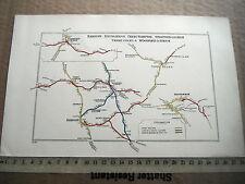 BANBURY WOODFORD STRATFORD KINETON THREE COCKS BRYAMMAN GWYS RAILWAY MAP 1928