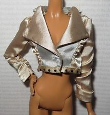 TOP ~ MATTEL STARDOLL BY BARBIE DOLL MODEL MUSE SIZE SATIN JACKET CLOTHING ITEM