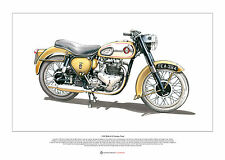 BSA A10 Golden Flash ART POSTER A2 size