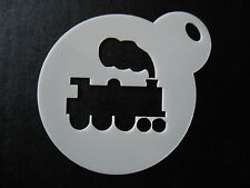 Laser cut small train with steam design cake, cookie,craft & face paintinstencil