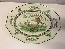 Antique Royal Doulton Pekin Pattern Large Ceramic Tray / Platter Bird Decoration