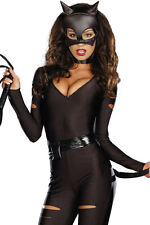 Sexy 3 Piece Catwoman Cat Night Prowler Costume Catsuit Bodysuit Body Size 10