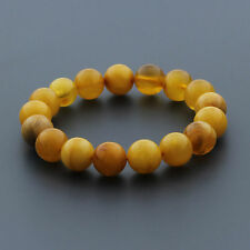 Natural Baltic Amber Bracelet Large Round Beads 12mm. 15.20gr. RB9