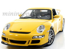 WELLY 18024W PORSCHE 911 997 GT3 RS 1/18 DIECAST YELLOW