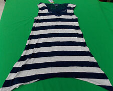 NWT  DIESEL TRISFEDO WOMENS TANK TOP T SHIRT- BLUE STRIPED-XL