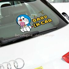 Cute Doraemon BABY IN CAR warning Glass truck car stickers Decals rear bumper