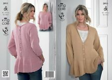 King Cole Ladies Cardigan & Top Bamboo Cotton Knitting Pattern 3911  DK (...
