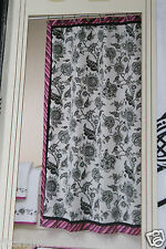 Allure Riley Fabric Shower Curtain 70x71 black pink purple polyester new