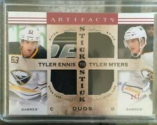 2014-15 Artifacts Ennis Myers Stick Duos /7 Game-Used Upper Deck 14/15 SP