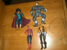 Marvel Legends Figure Lot Spiderman Origins Gold Variant Mysterio Rhino Shocker