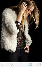 ZARA Faux Fur Coat  Jacket M Winter Fluffy Evening christmas party