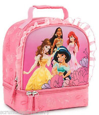 Disney Store Princess Lunch Box Bag Tote School Pink Ariel Pocahontas 2013