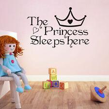 Fille Princesse Sticker Mural Autocollant Muraux Chambre Enfants Neuf