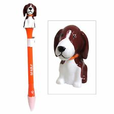 Beagle Figurine Topper Pen Blue Ink