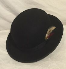 WESTERN EXPRESS Black 100% Wool Derby Hat Size Adult Small 6 3/4