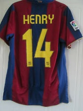 Barcelona Henry 14 2007-2008 Home Football Shirt Size Small /39036