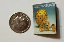 Miniature Dollhouse  Barbie 1/12 Scale Book Jewelry Cartier Faberge Eggs Y