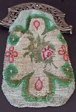 Antique Victorian Dutch Silver Hand Beaded Purse
