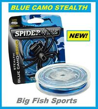 SPIDERWIRE STEALTH BLUE CAMO Braid Line 20LB-300YD #SCS20BC-300 FREE USA SHIP!