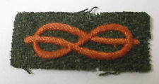 italian military  red silk knot  military cloth  patch