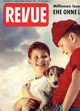 Kult-Illustrierte REVUE Nr. 11 von 1957, Erste Fotos von Caroline von Monaco uvm
