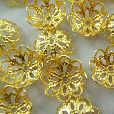 Wholesale 150Pcs   Gold  Plated Flower Bead Caps Jewelry Findings 12mm