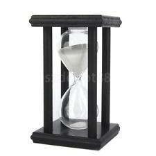 30 Min Minutes Wooden White Sand Sandglass Hourglass Timer Clock Home Decor