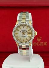 Ladies Rolex President 6916 18k Yellow Gold / 2-Tone Band MOP Diamond Dial Bezel