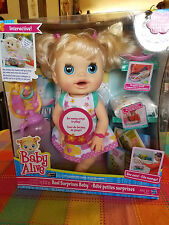 "Baby Alive ""Real Surprises"" Retired Doll, Rare, French-English Bilingual"