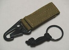 Quick Detach Rifle Sling Adapter HK Style Clip & Ring QD Tactical Sling COY TAN