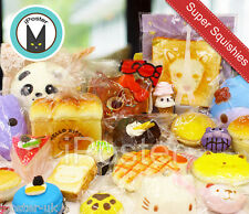 12x Kawaii Squishies Soft Foods Panda Bun Toasts Multi Donuts Cell Phone Chain
