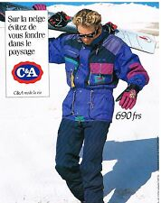 Publicité Advertising 1994 Les Vetements de ski C&A