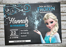 Frozen Birthday Party invitation printable with free matching Thank You card