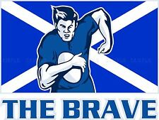 PAINTING SPORT SCOTLAND RUGBY FOOTBALL FLAG BRAVE POSTER PRINT BMP10342