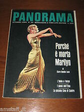 RIVISTA PANORAMA 1964/25=MARILYN MONROE COVER + INSIDE 11 PAGES WITH 11 PHOTOS=