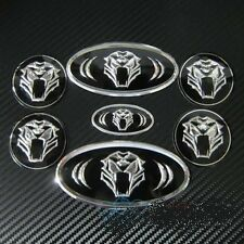 Car Hood Trunk Steering Wheel Cap Badge Emblem Set Tiger Tigris for KIA HYUNDAI