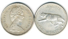 1867-1967 Canadian Silver Quarter in Nice Circulated Condition