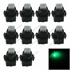 10x Green T5 Neo Wedge 1 SMD 5050 LED Car Bulbs HVAC Climate Control Lights N401