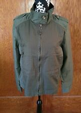 Lucky Brand NEW Womens Military Army green Jacket sz XL Mixed material