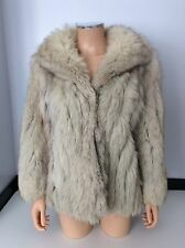SAGA Fox London Vintage Fur Coat Jacket Size 14 Women's
